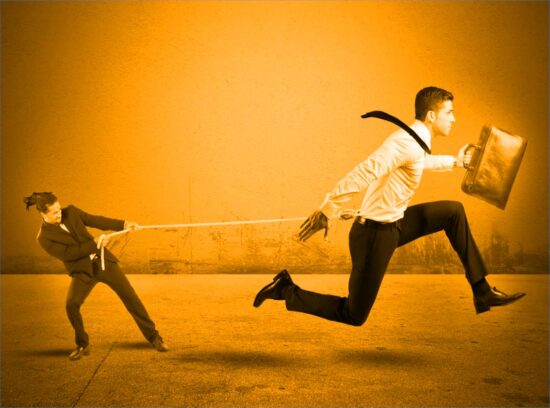 law firm client retention: man on rope
